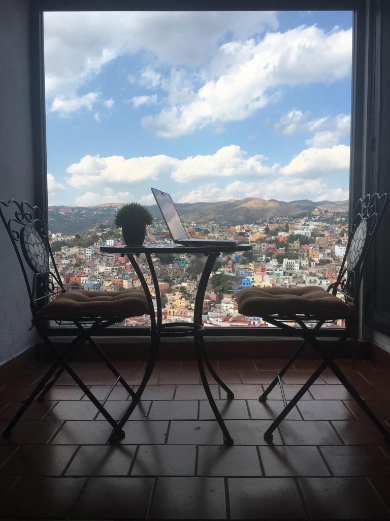 Sheila's Desk in Guanajuato, MX